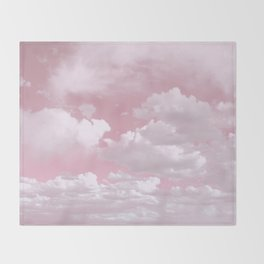 Clouds in a Pink Sky Throw Blanket