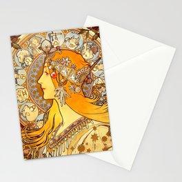 "Alphonse Mucha ""Zodiac"" Stationery Cards"