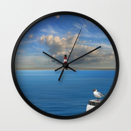 The lonely lighthouse Wall Clock