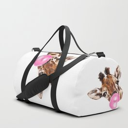 Bubble Gum Sneaky Giraffee Duffle Bag