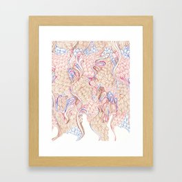 Feathers and fur Framed Art Print