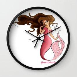 Mermaid Aqua Wall Clock