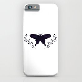 Midnight Butterfly iPhone Case