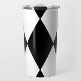 LARGE BLACK AND WHITE HARLEQUIN DIAMOND PATTERN Travel Mug