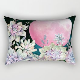 succulent full moon 3 Rectangular Pillow