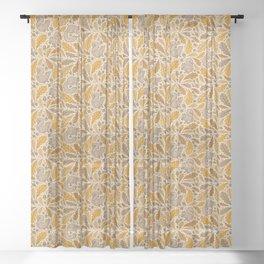 Oak & Squirrels | Autumn Yellows Palette Sheer Curtain