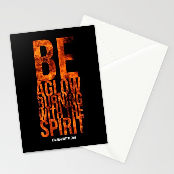 Be Aglow Burning With the Spirit Stationery Cards