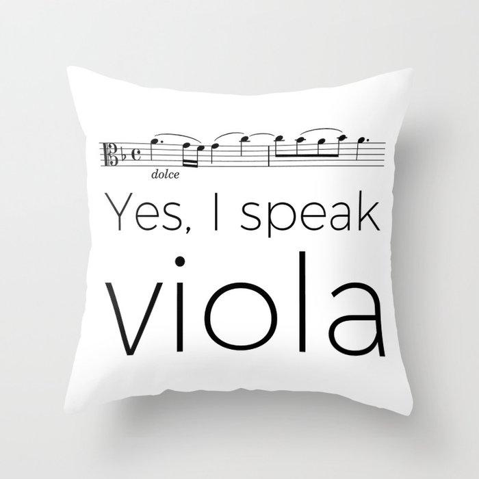 I speak viola Throw Pillow