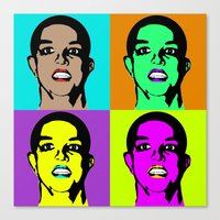 britney spears Canvas Prints featuring BRITNEY SPEARS by Medúsza