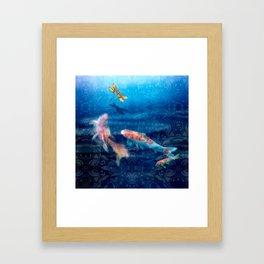 The Koi Damsel Framed Art Print