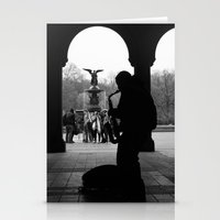 central park Stationery Cards featuring Central Park by Julian Clune