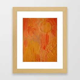 Orange Abstract Painting Framed Art Print