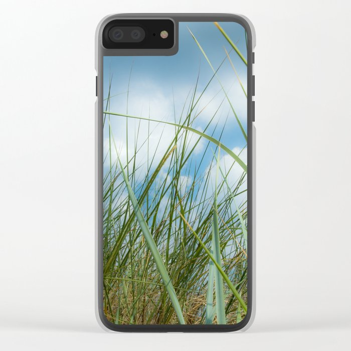 Dreaming in the grass pattern Clear iPhone Case