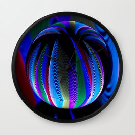 Colours in the crystal ball Wall Clock