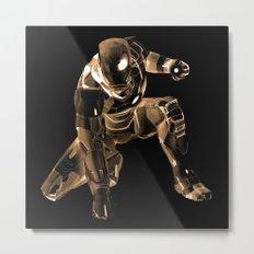 Iron Man Bronze Metal Print