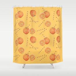 orange juice _ light Shower Curtain