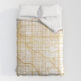 DENVER COLORADO CITY STREET MAP ART Comforters