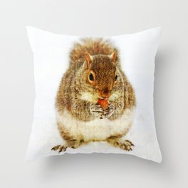 Squirrel with an Acorn Throw Pillow