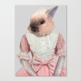 Victorian Bunny Canvas Print
