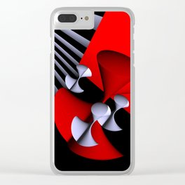 red-white-black -7- Clear iPhone Case