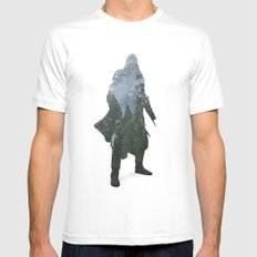 Assassins Creed - Woodland 2 Mens Fitted Tee White MEDIUM