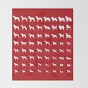 All Dogs (Red) by erinreadesign