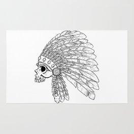 Hand drawn Indian Skull Rug