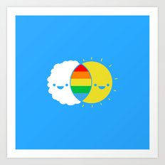 (((rainbows Art Print