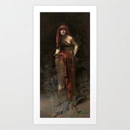 Priestess of Delphi by John Collier Art Print