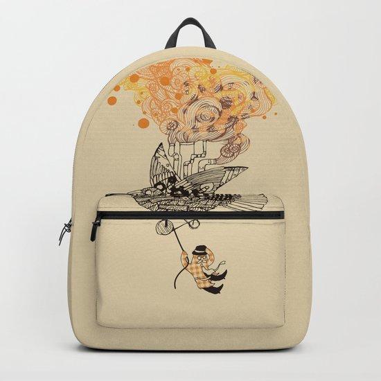 The wacky traveling machine Backpack
