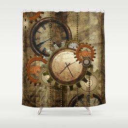 Steampunk, wonderful noble design  Shower Curtain