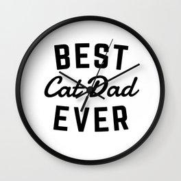 Best Cat Dad Ever Wall Clock