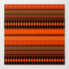 Under the Volcano - tribal geometrics Canvas Print