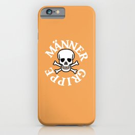 Lustiges ironisches Motiv für harte Männer die Männergrippe iPhone Case