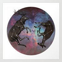 constellation Art Prints featuring Constellation by Jamie Mitchell