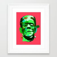 frank Framed Art Prints featuring Frank. by Huxley Chin