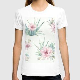Cactus Pattern Light Green #society6 #buyart T-shirt