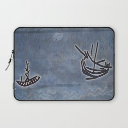 Tribal Boats in the Night Laptop Sleeve