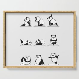Panda Yoga Serving Tray