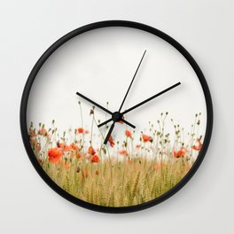 Poppies Coquelicots Wall Clock