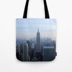 New York City in Outline Tote Bag