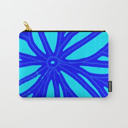 aqua blue bloom Carry-All Pouch
