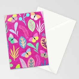 Flower and Butterfly Stationery Cards