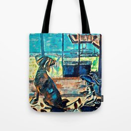 Untold Otter Tail Lake Cabin Stories - Dog and Baby Tote Bag