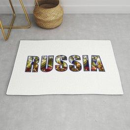 Russian Crest & Flag Rug