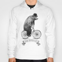 lime Hoodies featuring Bears on Bicycles (Lime) by Eric Fan