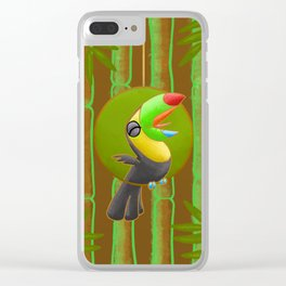 Squawking Toucan! Clear iPhone Case