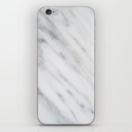 Carrara Italian Marble iPhone Skin