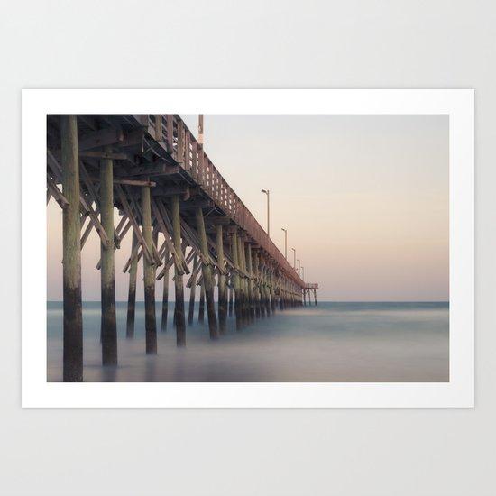 Pier at Dusk Art Print