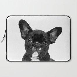 Black and White French Bulldog Laptop Sleeve